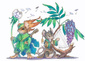 mouse bards by drachenmagier