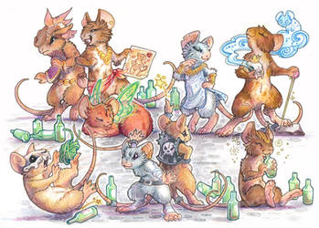 mouse brigade by drachenmagier