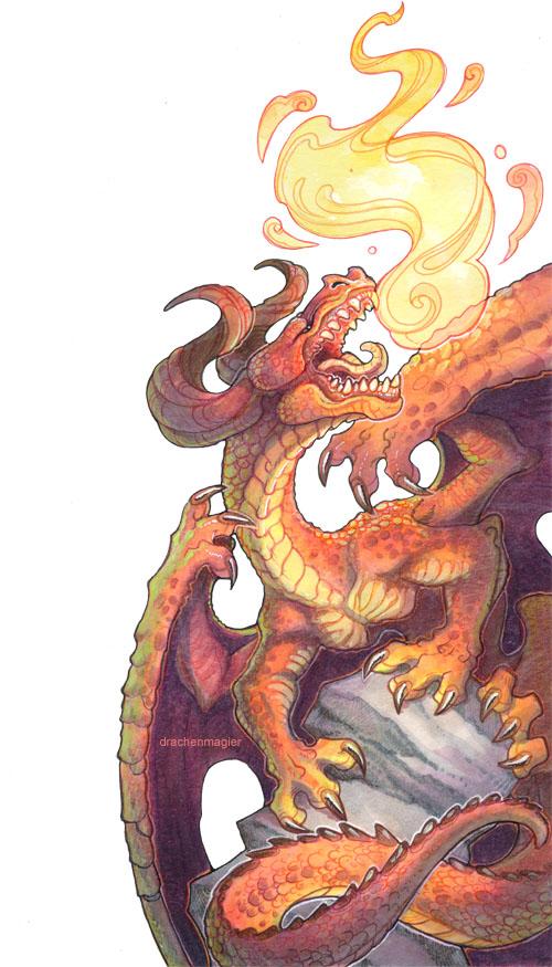 Fairest II - red dragon by drachenmagier