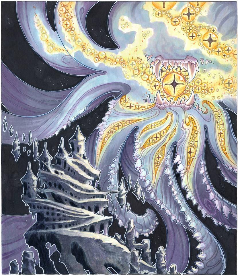 thousand eyed god by drachenmagier