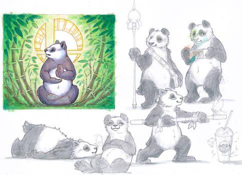 panda scribbles