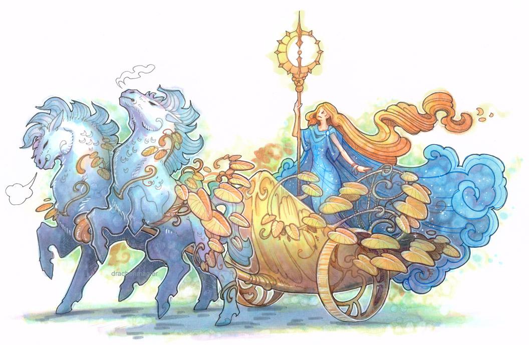 pumpkin chariot by drachenmagier