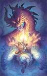 dragon battle by drachenmagier