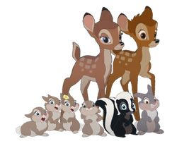 Bambi and his Friends Vector