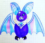 Berry Cheese Bat by galbin32