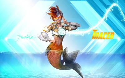 Tracer Mermaid ON Jackie by lasserine