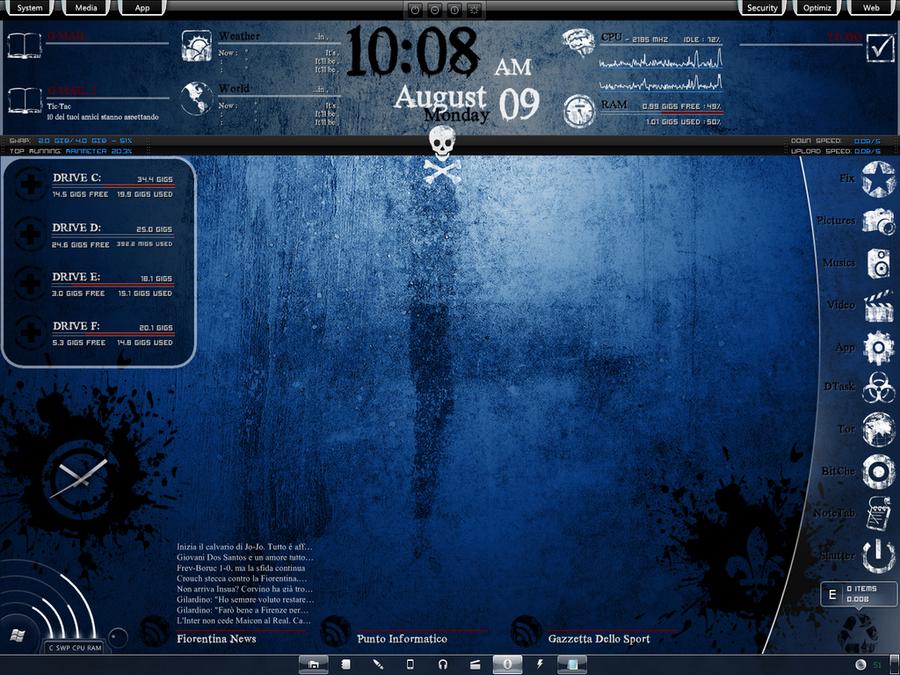 My Dark-Blue Rainmeter by UnderTheFuckingGun