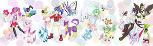 Bracelet girls' pokemon teams! [YGO!Arc-VxPokemon]