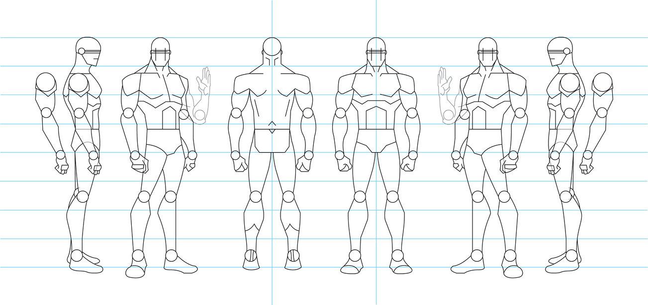 Figure Drawing Turnaround Template - Male by tamm3r on DeviantArt