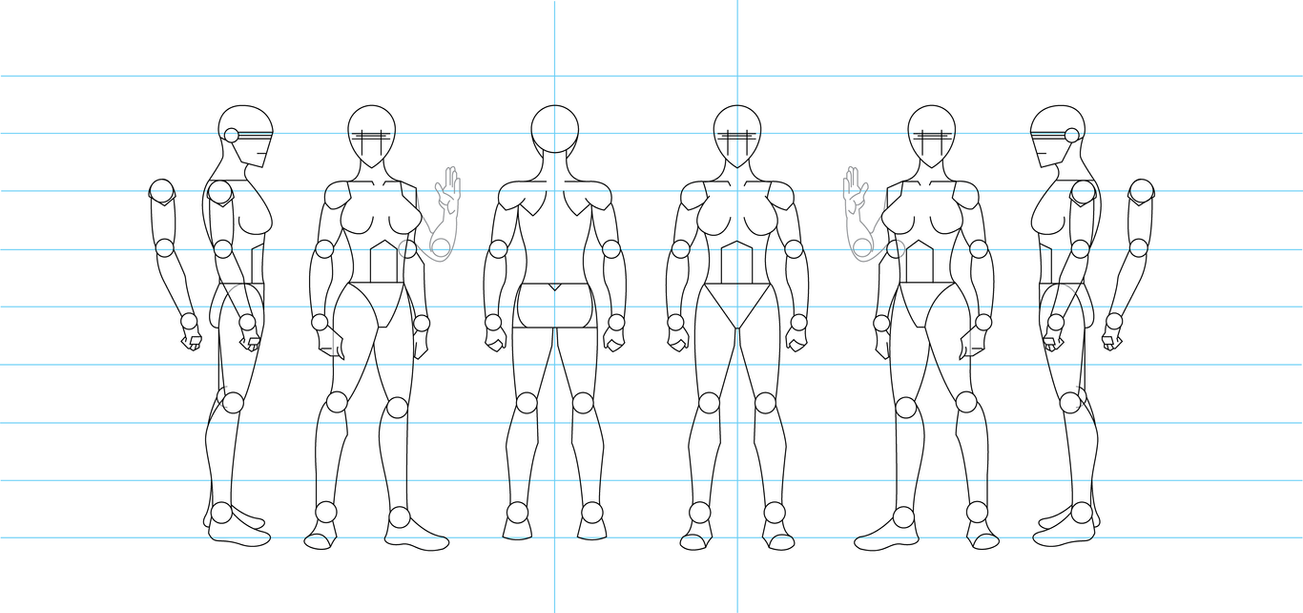 Figure drawing turnaround template female by tamm3r on deviantart figure drawing turnaround template female by tamm3r maxwellsz