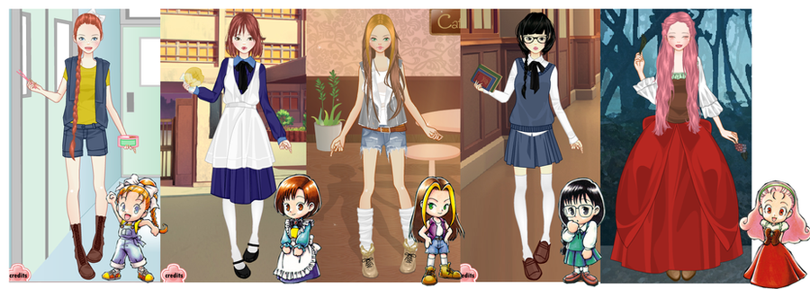 Coffee And Fashion Dress Up Game