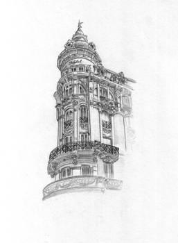 Drawed facade in Cartagena