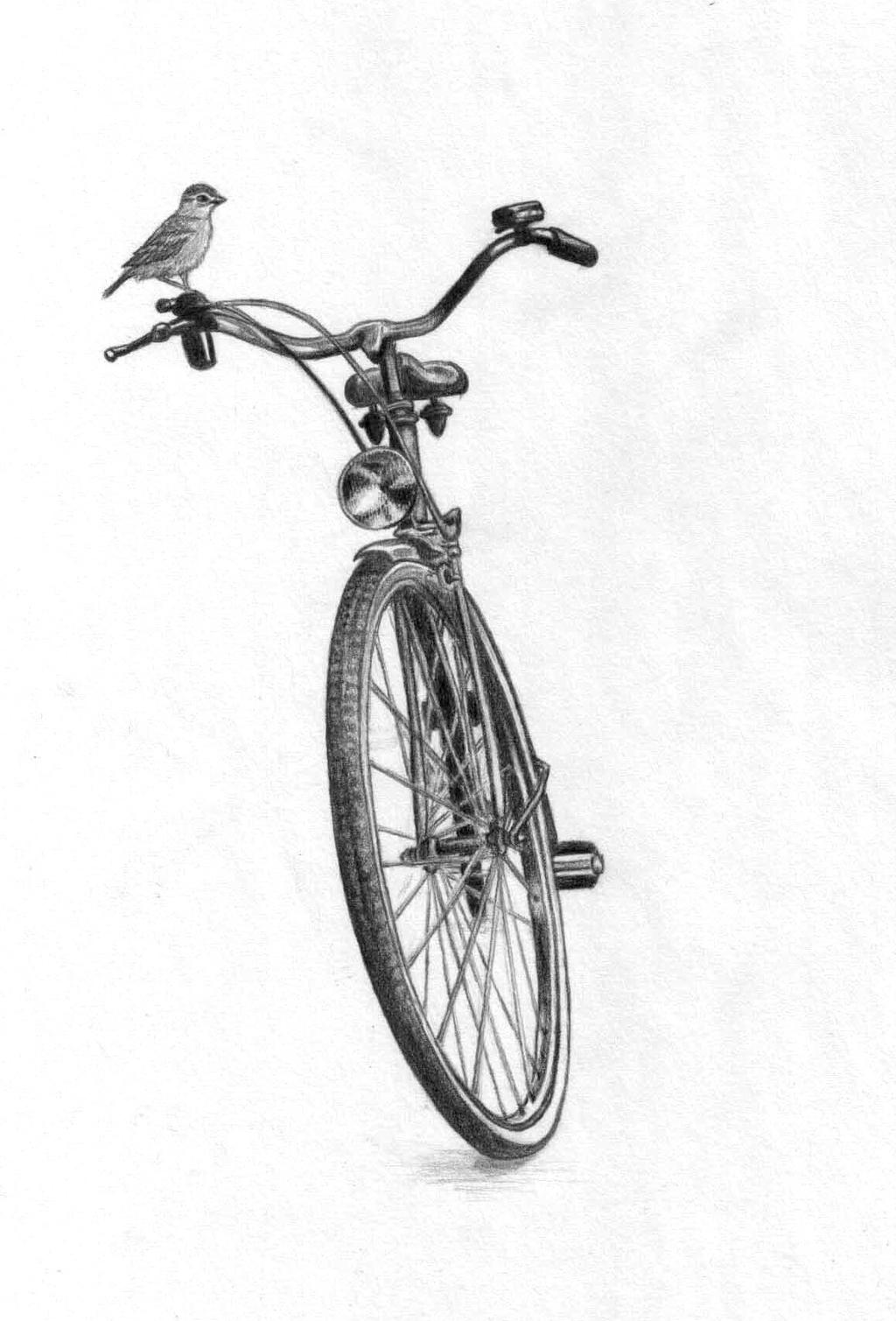 The bike and the bird by AlexLehner