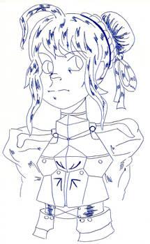 Fate/Zero Saber sketch