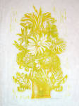 Flower Woodblock Print