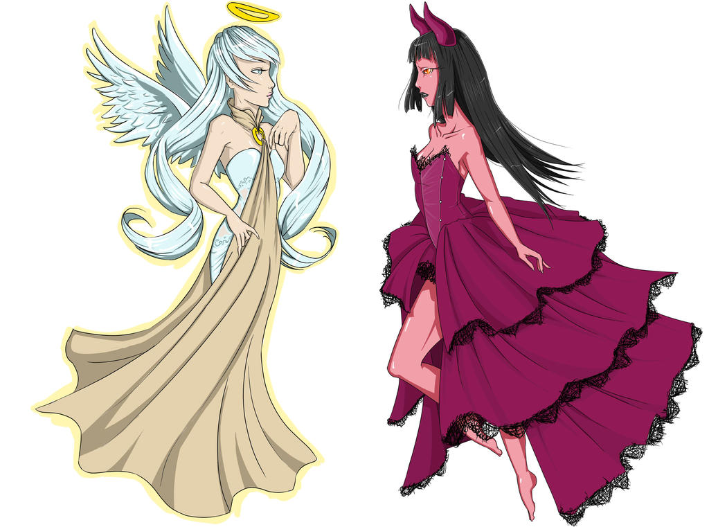Demon and Angel outfits by Evedith on DeviantArt