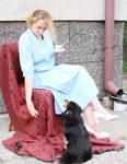 lady drinks tea,interrupted 3