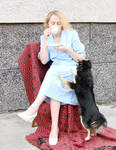lady drinks tea,interrupted 10