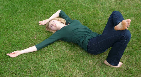 lying on the grass 8