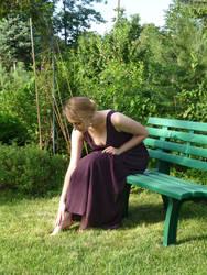 lady - garden bench 8