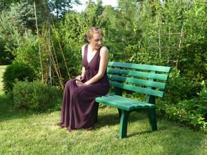 lady - garden bench 9