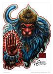 Hanuman Sketch Card - Melike Acar