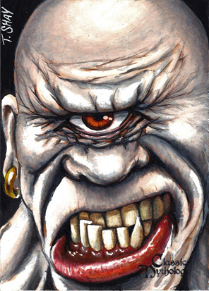 Cyclopes Sketch Card - Tim Shay