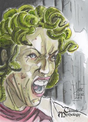 Medusa Sketch Card - Francois Chartier