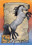Sleipnir Sketch Card - Ingrid Hardy