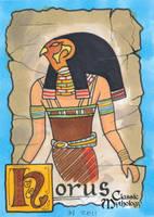 Horus Sketch Card - Ingrid Hardy by Pernastudios