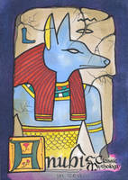 Anubis Sketch Card - Ingrid Hardy by Pernastudios