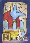 Anubis Sketch Card - Ingrid Hardy