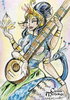 Saraswati Sketch Card - Sara Richard by Pernastudios