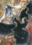 Huginn Muninn Sketch Card - Meghan Hetrick