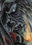 Thanatos Sketch Card - Meghan Hetrick