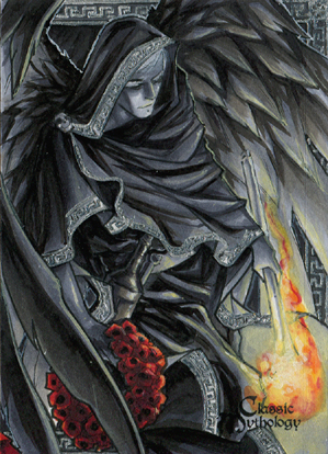 Thanatos Sketch Card - Meghan Hetrick