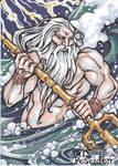 Poseidon Sketch Card - Amber Shelton