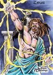 Zeus Sketch Card - Sam Agro