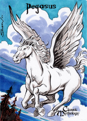 Pegasus Sketch Card - Sam Agro