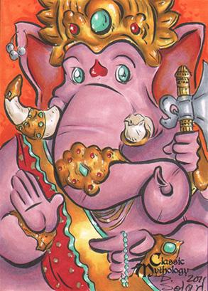 Ganesha Sketch Card - Danielle Soloud-Gransaull