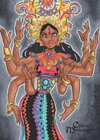 Durga Sketch Card - Danielle Soloud-Gransaull by Pernastudios