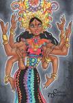 Durga Sketch Card - Danielle Soloud-Gransaull