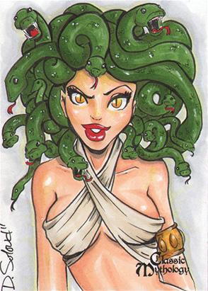 Medusa Sketch Card - Danielle Soloud-Gransaull
