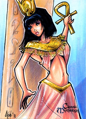 Hathor Sketch Card - Axebone by Pernastudios