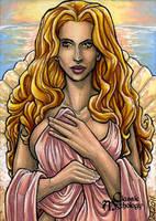 Aphrodite Sketch Card - Lynne Anderson by Pernastudios