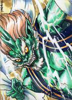 Raijin Sketch Card - Mel Uran