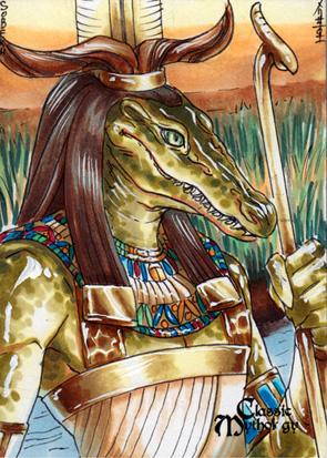 Sobek Sketch Card - Mel Uran