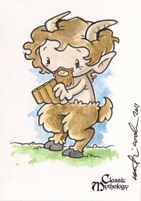 Pan Sketch Card - Katie Cook
