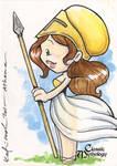 Athena Sketch Card - Katie Cook