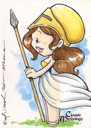Athena Sketch Card - Katie Cook